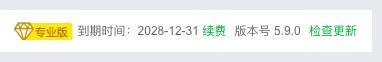 《宝塔面板 5.9 专业版(方案三)》