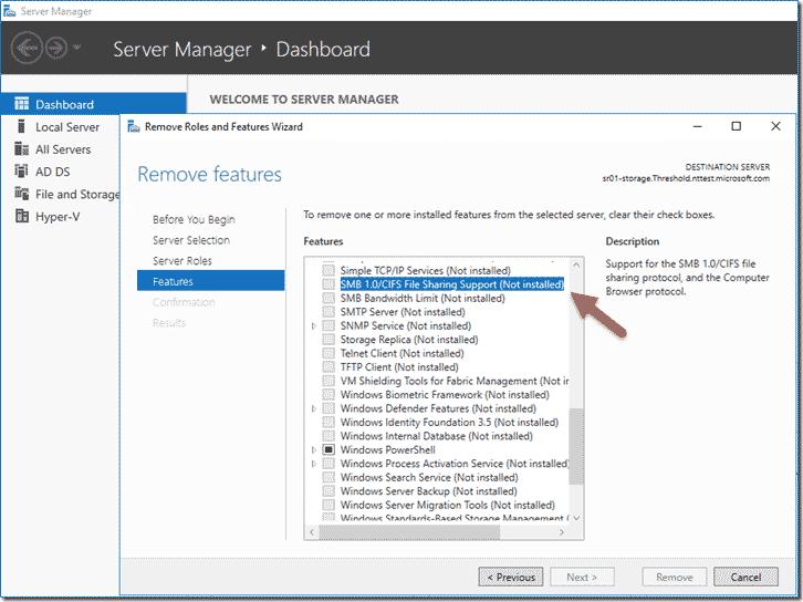 《Windows服务器启用/禁用SMBv1、SMBv2和SMBv3的方法教程》